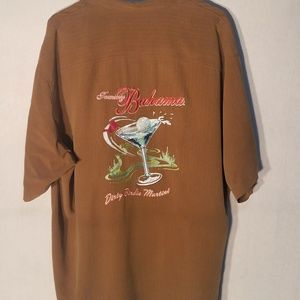 Brown Tommy Bahama casual button up shirt